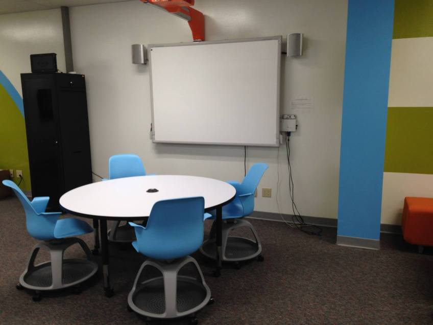 Whiteboard paint on the walls turns every wall surface into a collaboration space!