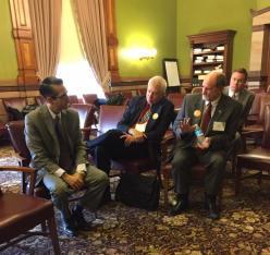 Representative Joel Fry with Gary DeLacy (Danville) & Dave Daughten (Wayne)