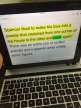 Did you know you can borrow an ipad with an external keyboard from the AEA Media center? The Bookshare App Read2go is reading and highlighting text on the screen above.