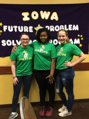 8th graders Anaia Mack from Aldo Leopold, Kirsten Walz from Edward Stone with freshman Hannah Hentzel from BHS