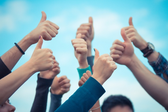 College Students with Thumbs Up